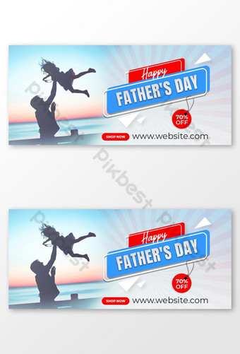 Happy Father's Day facebook cover design Template PSD