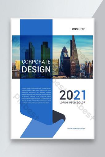 Conception de modèles d'affiche de dépliant d'entreprise avec la disposition de la couverture du rapport annuel Modèle EPS