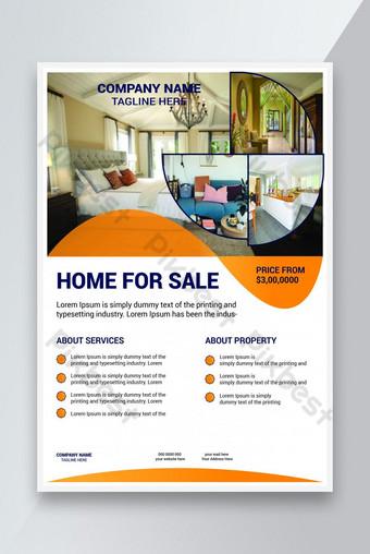 Creative Immobilier Accueil Vente Flyer Design Modèle EPS