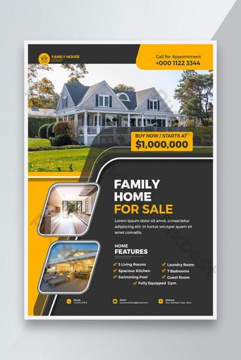 Immobilier Modèle de conception de flyer à vendre Modèle PSD