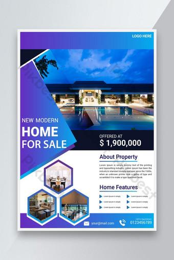 Immobilier Flyer Business Corporate Creative Maison à vendre Modèle de conception Modèle AI