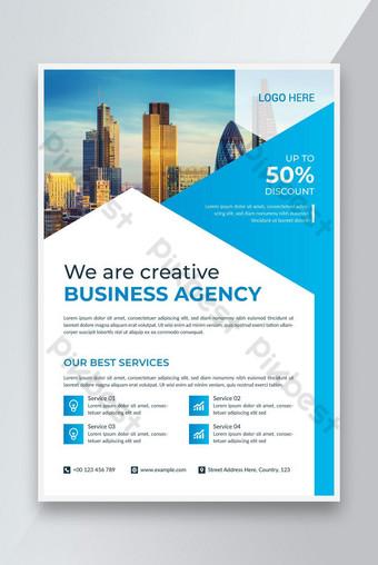 Modèle d'affiche de dépliant d'entreprise Design A4 Taille Modèle EPS