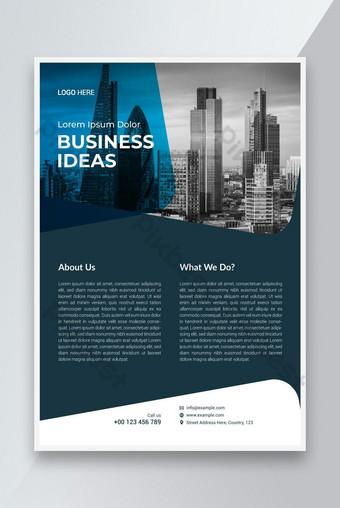 Modèle d'affiche de dépliant d'entreprise avec design minimal et abstrait moderne Modèle EPS