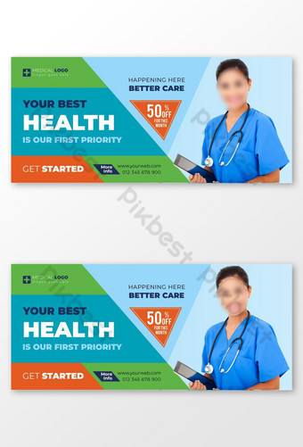 Banner of health insurance service Template EPS