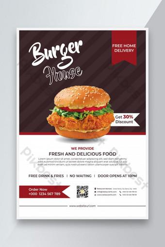 Restaurant Flyer Design Food Flyer Design Burger Vente Flyer Design Business Flyer Modèle EPS