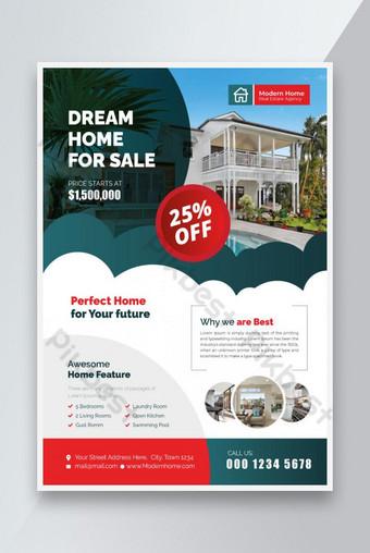 Dream Home à vendre Flyer Modèle AI
