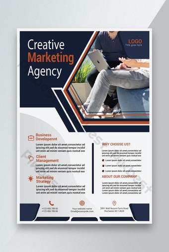 Creative Business Company Flyer Modèle Design 2021 Modèle AI