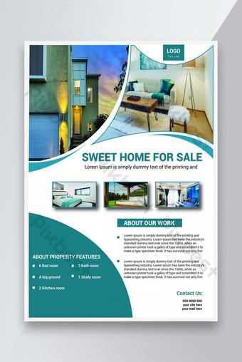 Simple Creative Immobilier Maison Vente Modèle Flyer Design Modèle EPS