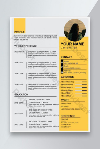 Resume công ty hoặc mẫu thiết kế CV Bản mẫu AI
