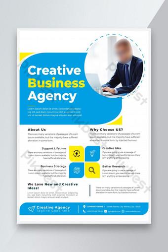 Flyer d'affaires Design Circulation d'entreprise Conception et marketing Agence de marketing Flyer Design Modèle EPS