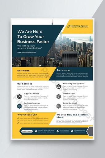 Agence marketing Flyer Design Business Flyer Design Modèle de flyer d'entreprise Modèle EPS
