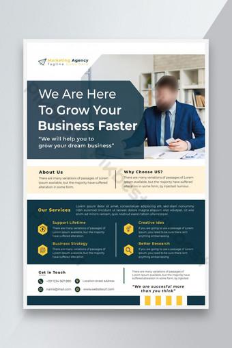 Conception de Flyer Business et Flyer d'entreprise Design Agence Marketing Flyer Design Modèle EPS