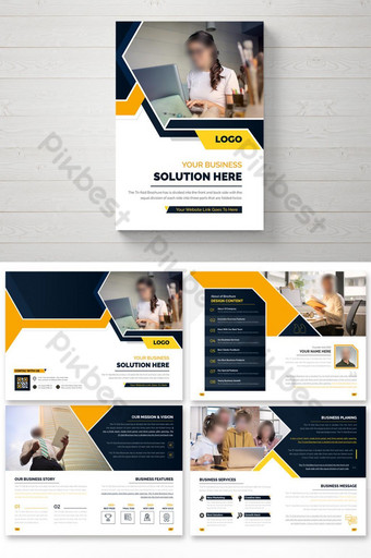 16 pages colofrul business brochure design template. annual report theme Template AI