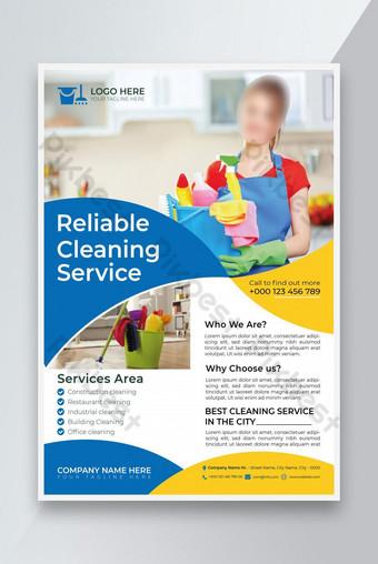 Modèle de dépliant de service de service de nettoyage de maison ou modèle de dépliant de service de nettoyage Modèle EPS
