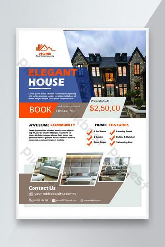 Modèle de conception de flyer immobilier Modèle PSD