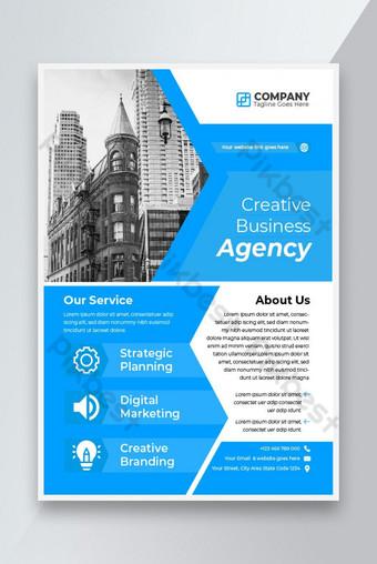 Creative Business Agency Agence Flyer Poster Modèle Design sur la taille du papier A4 Modèle AI