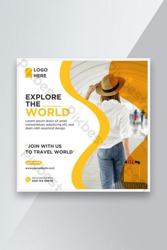 Agensi Pelancongan Template Reka Bentuk Media Sosial Templat AI