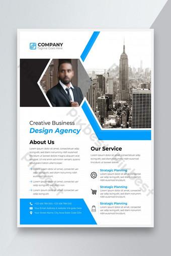 Creative Business Agency Flyer Modèle Design sur la taille du papier A4 Modèle AI