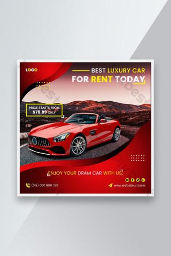 Loyer de voiture Promotion Social Media Instagram Post Banner Modèle Premium PSD Modèle PSD