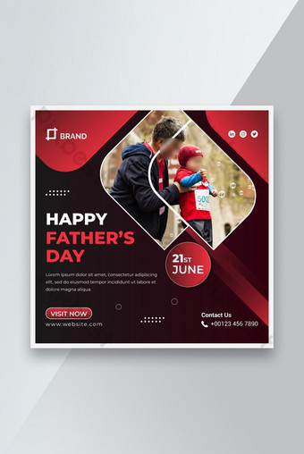 Happy father's day instagram post Template AI