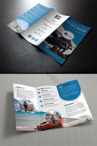 طباعة قالب تصميم كتيب السفر الإبداعي الإبداعي قالب EPS