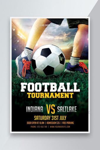 Affiche de flyer de tournois de football de football Modèle PSD