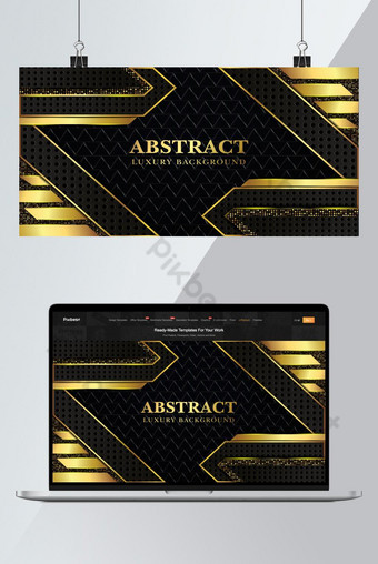 Luxury background with dark and gold metal texture background Premium Vector  Backgrounds Template EPS
