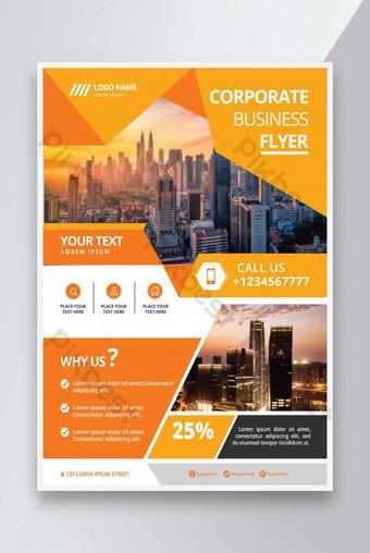 Creative Modern Professionnel Structure d'entreprise Unique Flyer Design Modèle EPS