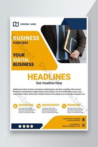 Conception de la brochure Creative Corporate Business Flyer Modèle AI