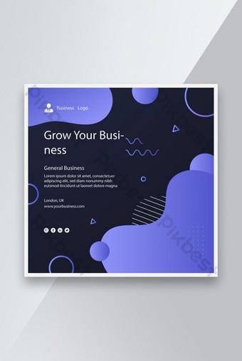 Creative Purple Color Gradient Grade Business Flyer Modèle de conception EPS Modèle EPS