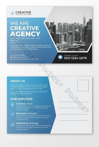 Modèle de cartes postales d'entreprise Premium PSD Modèle PSD