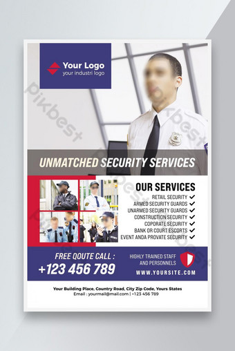 Professional Security Service Flyer Template PSD