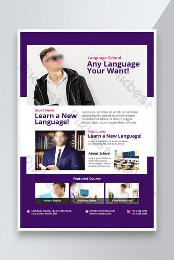 langage éducation école flyer Promotion Modèle PSD