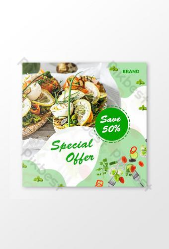 Offre spéciale Food Social Media Post Modèle Design Modèle PSD