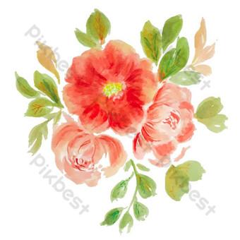 dessiner aquarelle florale Illustration Modèle AI