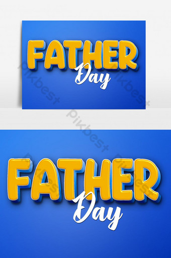 Editable Text effect - Text, golden text, Text 3D very beautiful, Father day Template PSD