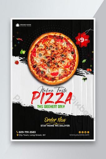 Pizza Italienne Restaurant Food Flyer Modèle Premium PSD Modèle PSD