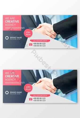 Corporate Social Media Post Facebook Cover Page Calline Web bannière Modèle PSD
