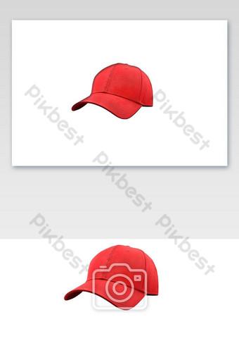 Casquillo rojo de moda y deportes aislado sobre fondo blanco Elementos graficos Modelo PNG