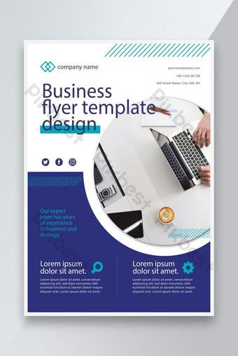 Création Concept Bleu Color Business Flyer Modèle de conception EPS Modèle EPS