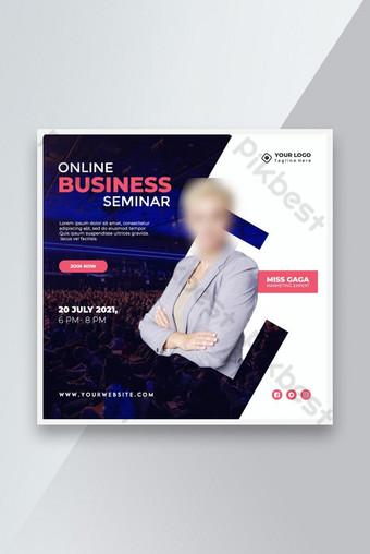 Modèle de bannière de séminaire d'entreprise en ligne Modèle PSD