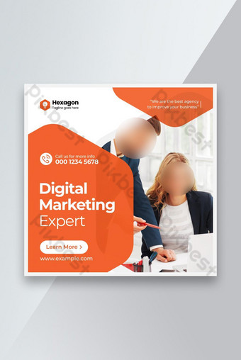 Digital Business Marketing Social Media Facebook Poste Instagram / Modèle de publicité Web Modèle AI