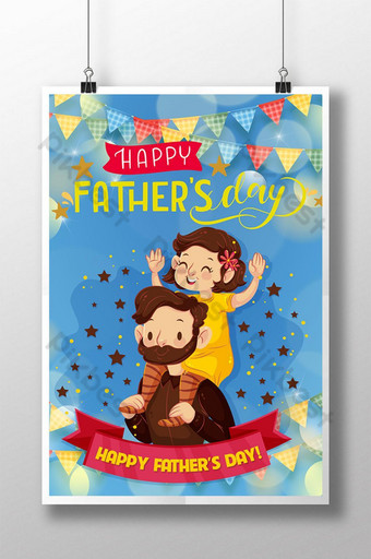 Poster Happy Father's Day Poster – Dad Template EPS
