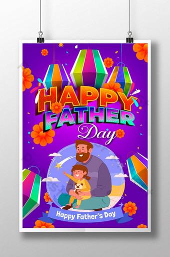 Cartel Feliz Padre S Día Póster - Papá Modelo EPS