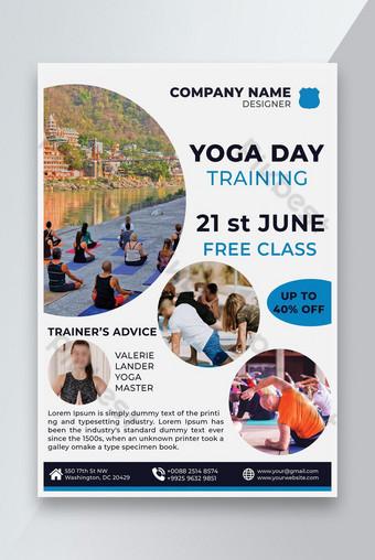 World Yoga Day Training Flyer Design Template PSD