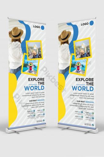 Diseño de plantilla de banner de señalización de banner de viaje de viaje Modelo AI