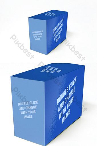 Bao bì hộp thực tế Mockup Mẫu cho công việcủa bạn Công cụ đồ họa Bản mẫu PSD