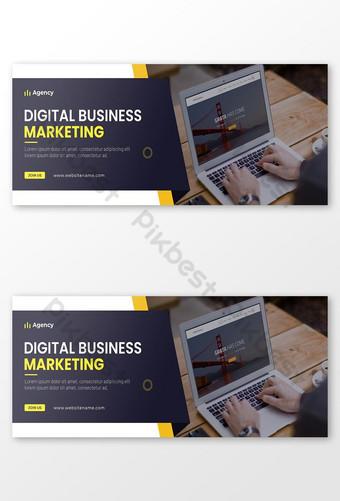 Agence de marketing numérique Couverture Facebook et Médias sociaux Post Modèle de poste Modèle PSD