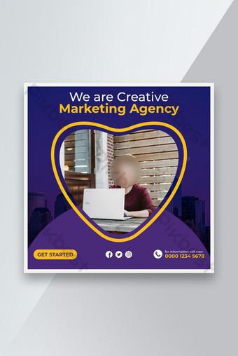 الأعمال التجارية للشركات وسائل الاعلام الاجتماعية آخر تصميم قالب الإبداعية قالب EPS
