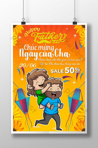 Happy Father's Day, Dad, Ngày của Cha, Template EPS